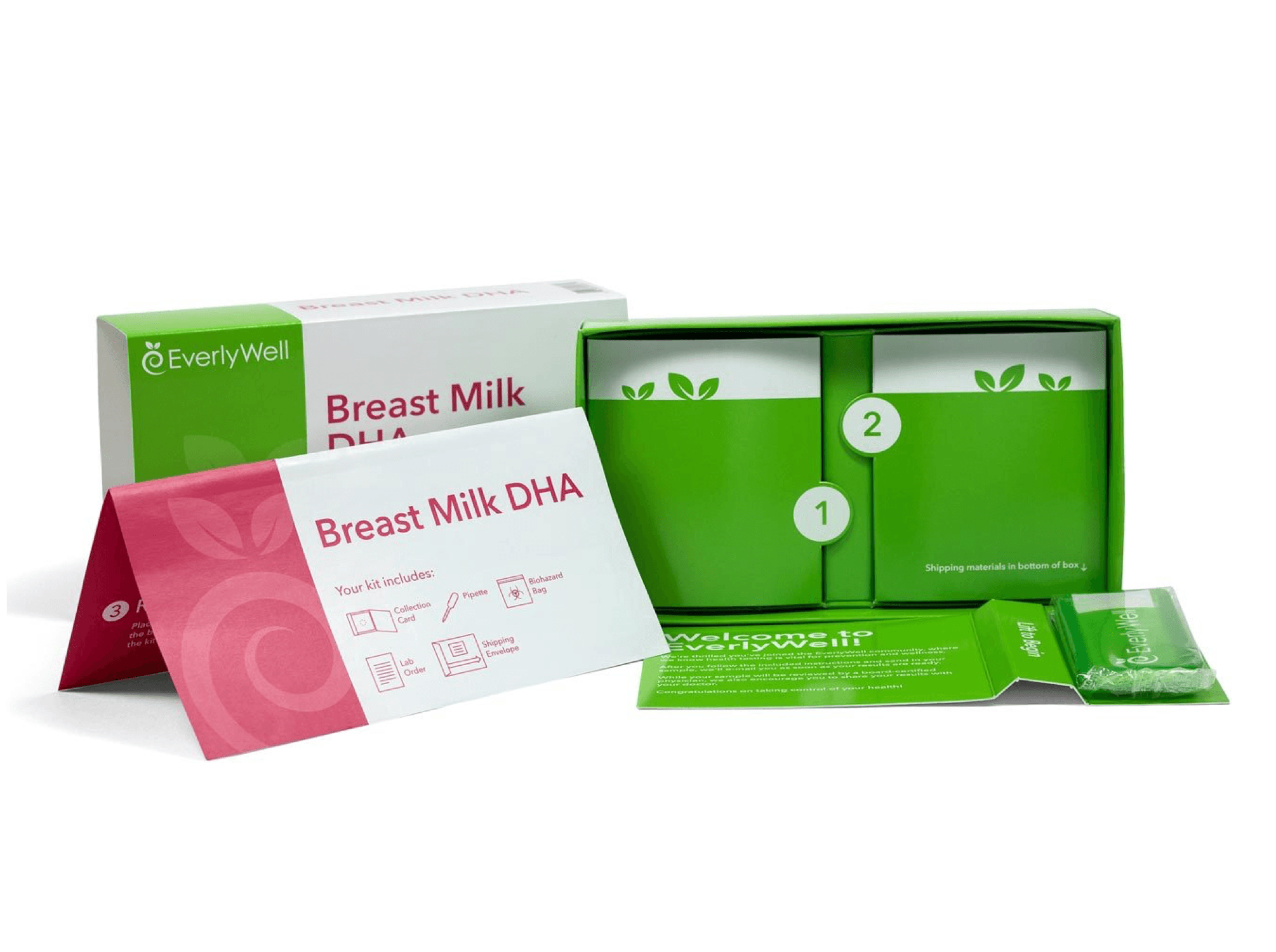 In addition to getting your DNA sequenced, you'll also provide a small breast milk sample using this EverlyWell companion kit.