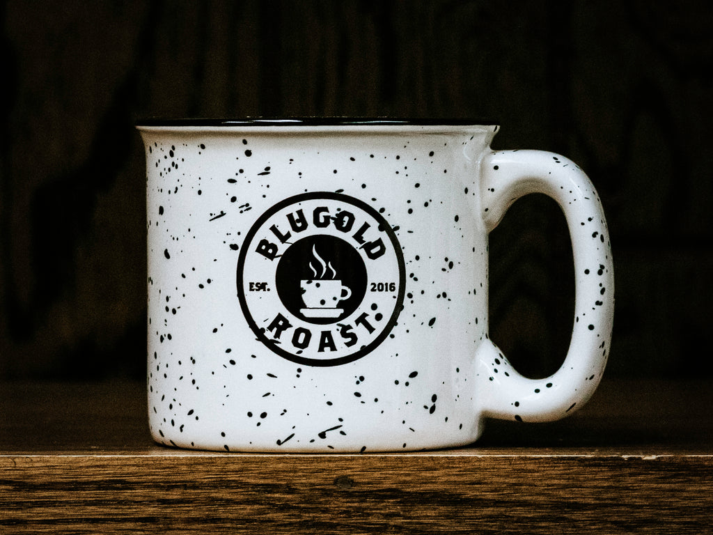 Blugold Roast Campfire Mug, The power of [COFFEE] (front side)