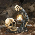 Skull With Lantern Outdoor *FREE SHIPPING*