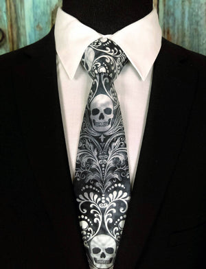 Awesome Skull Tie