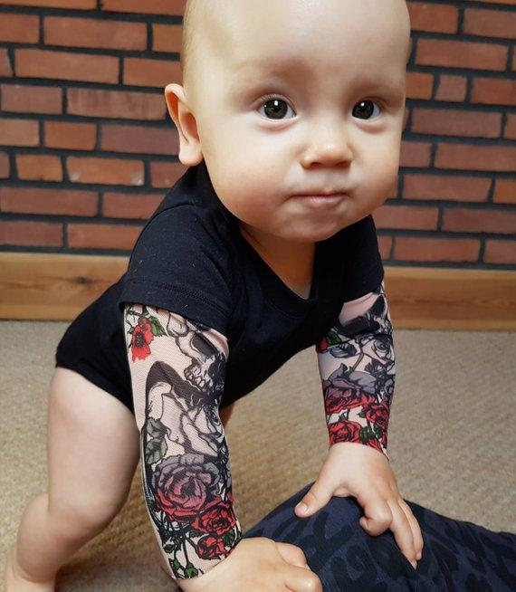 SKULL & ROSES BABY TATTOO BODYSUIT *LIMITED EDITION*
