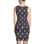 Skull All-Over Print Dress