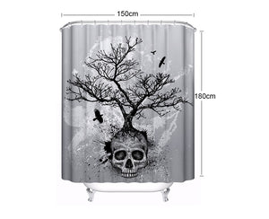 Tree & Skull Shower Curtain