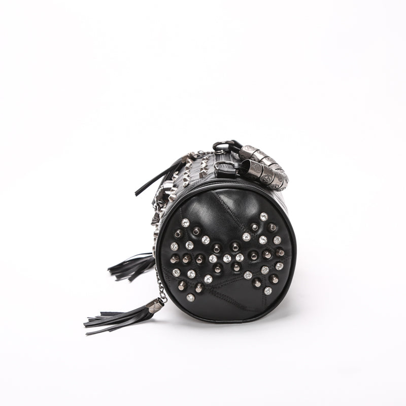 Vintage Leather Skull Handbag