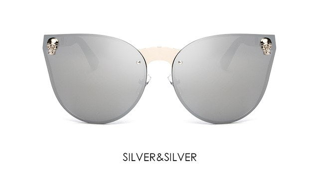 Skull Rimless Sunglasses