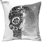 Magic Skull Pillow Cover