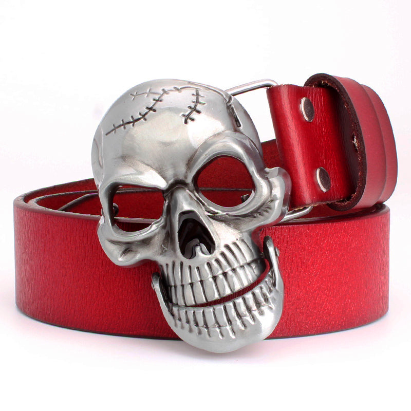 Big Skull Head Belt (Cowskin Leather)