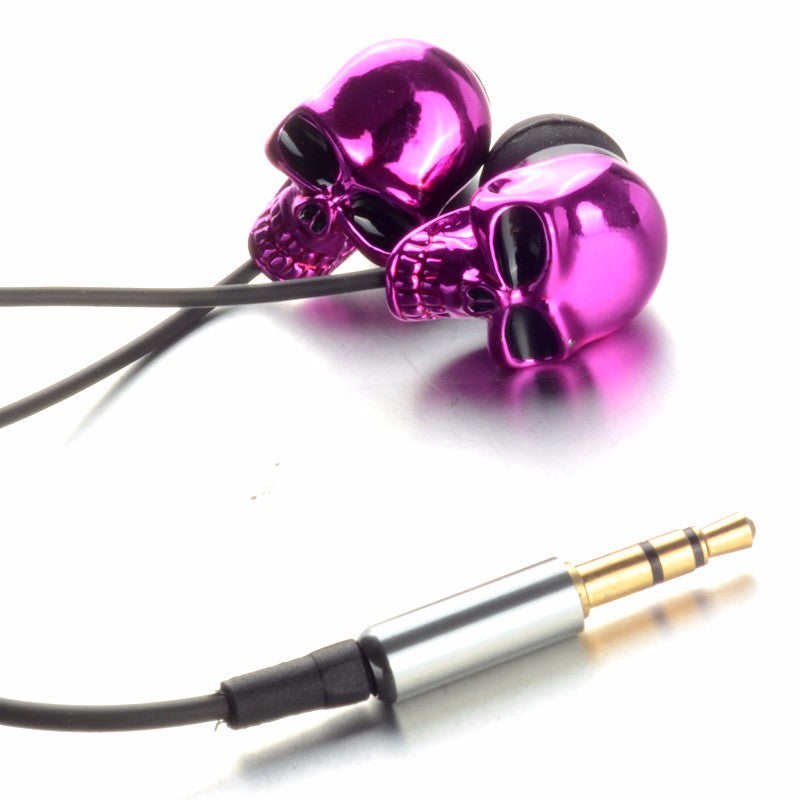 Unique Skull Design Earphone Skull Stereo Headset