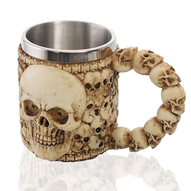 Bad To The Bone - Skull Mug