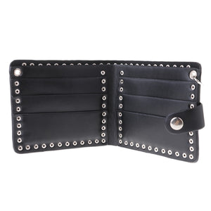 Cool Leather Wallet w Chain