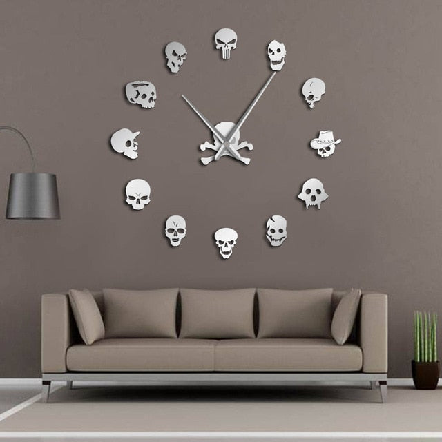 Skull Frameless Wall Clock