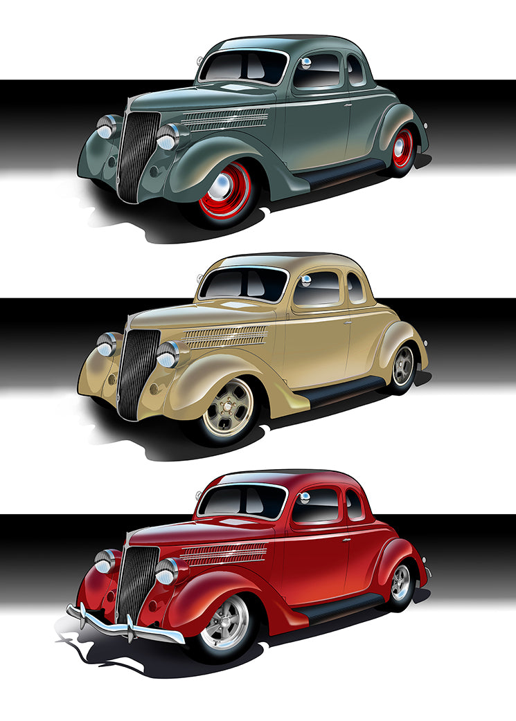 Color studies for '36 Ford Project