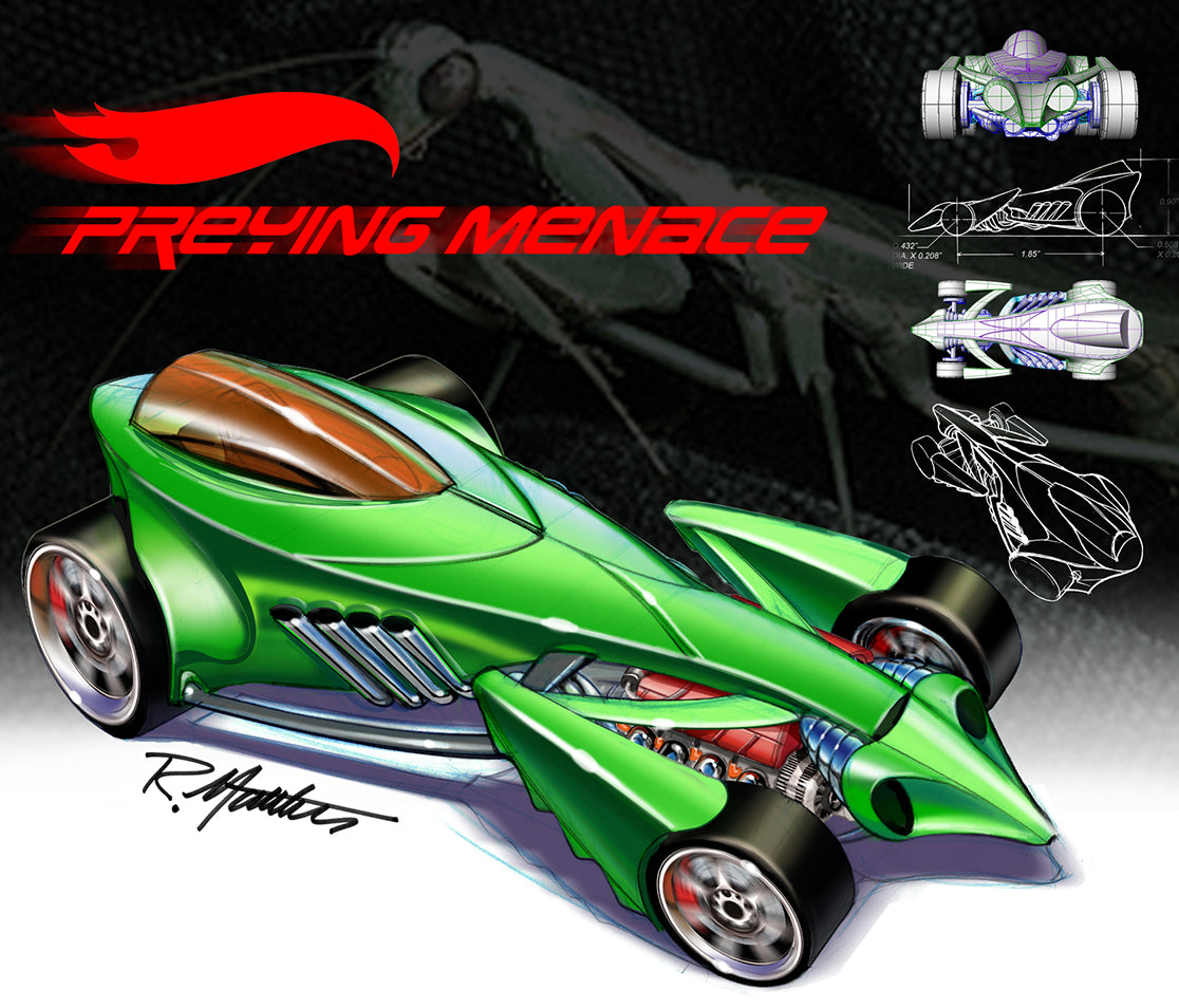 Preying Menace basic car for Hot Wheels