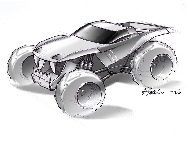 Team Hot Wheels concept sketch for Hot Wheels