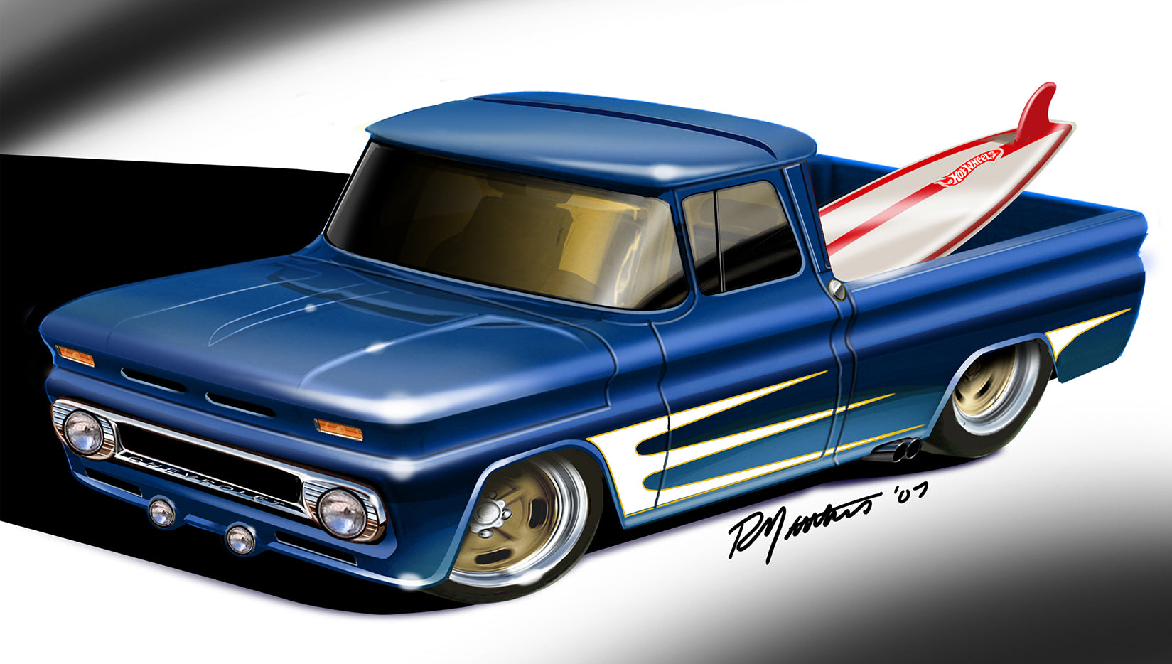 1962 Custom Chevy Pickup basic car for Hot Wheels