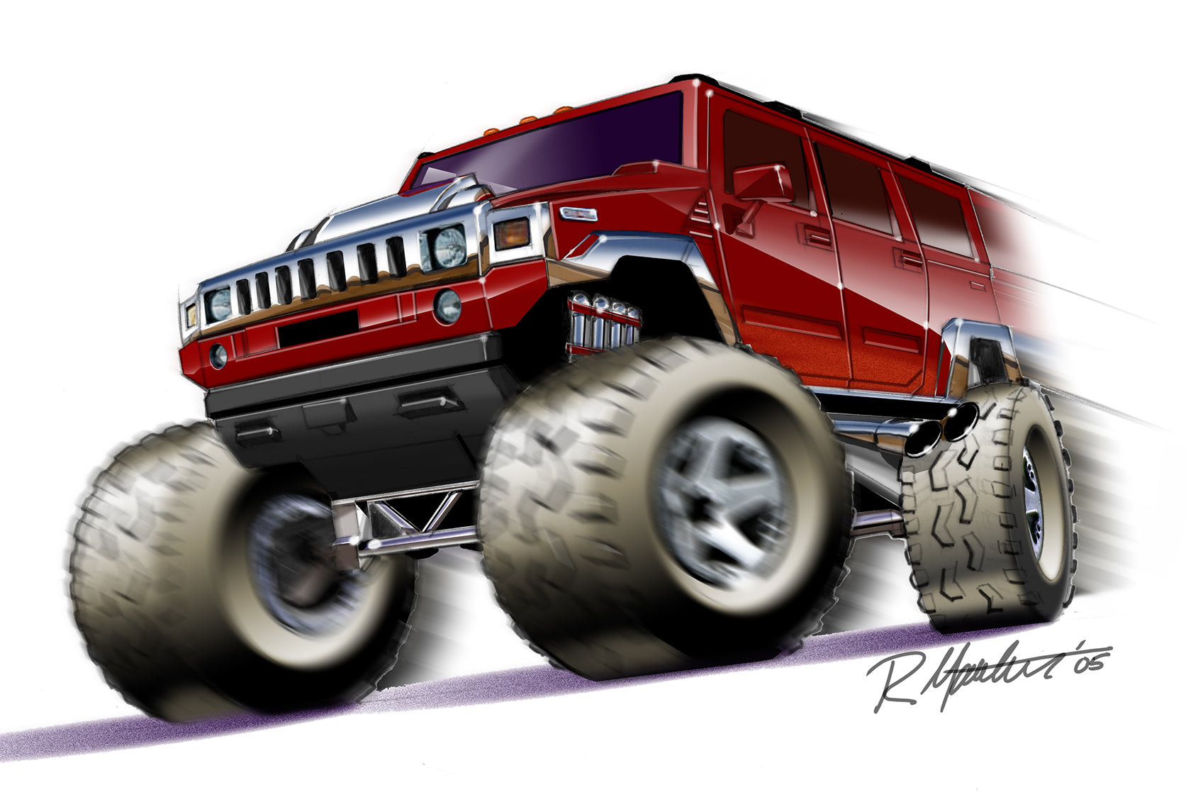 Hummer H2 basic car for Hot Wheels
