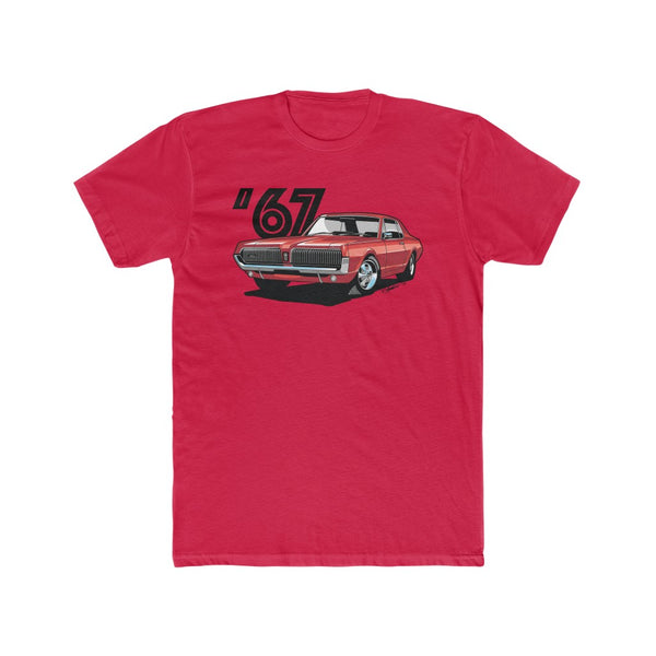 1967 Mercury Cougar Red Men's Cotton Crew Tee