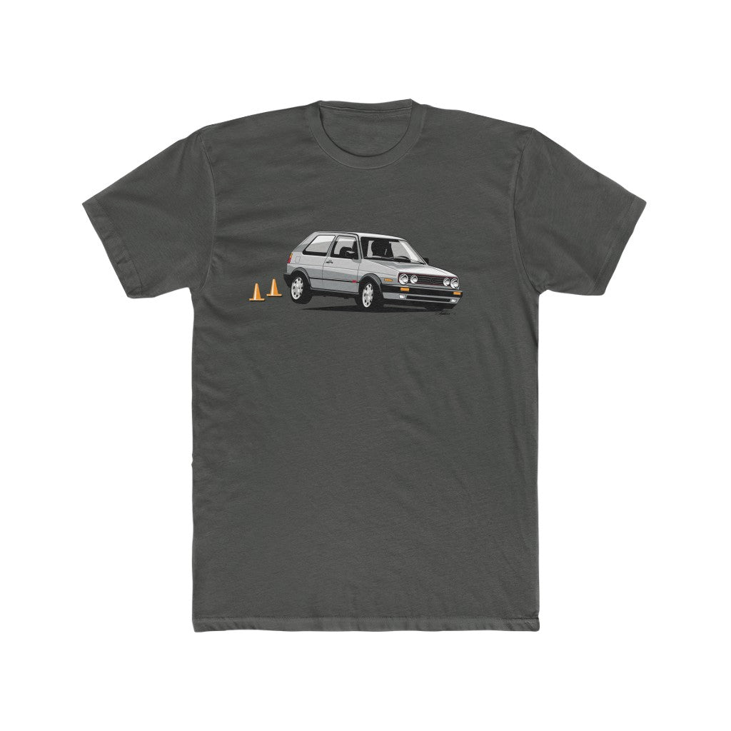 "VW GTI ""Wheels Up"" Tee- Silver"