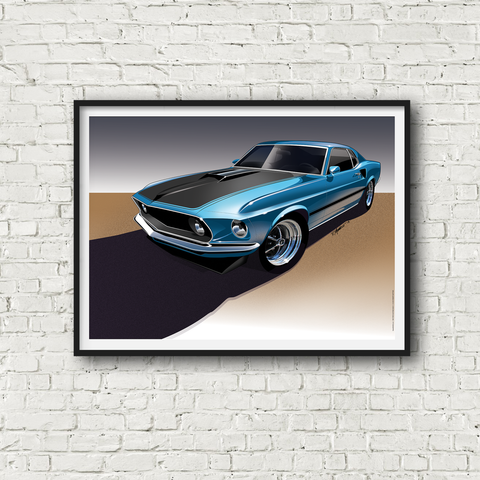 1969 Mustang Mach 1 Poster