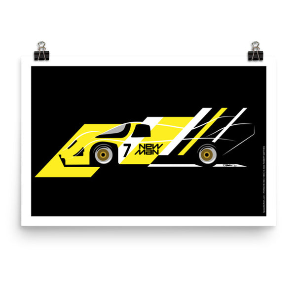 Porsche 956 New Man Art Print