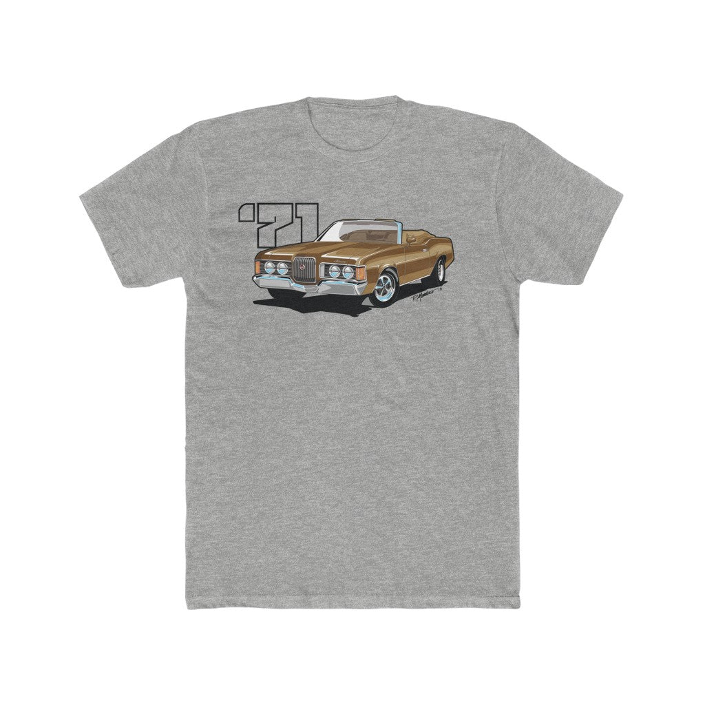 1971 Mercury Cougar Convertible Brown Men's Cotton Crew Tee