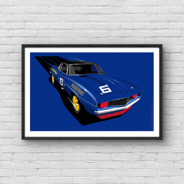 1969 Camaro Trans Am Mark Donohue Art Print