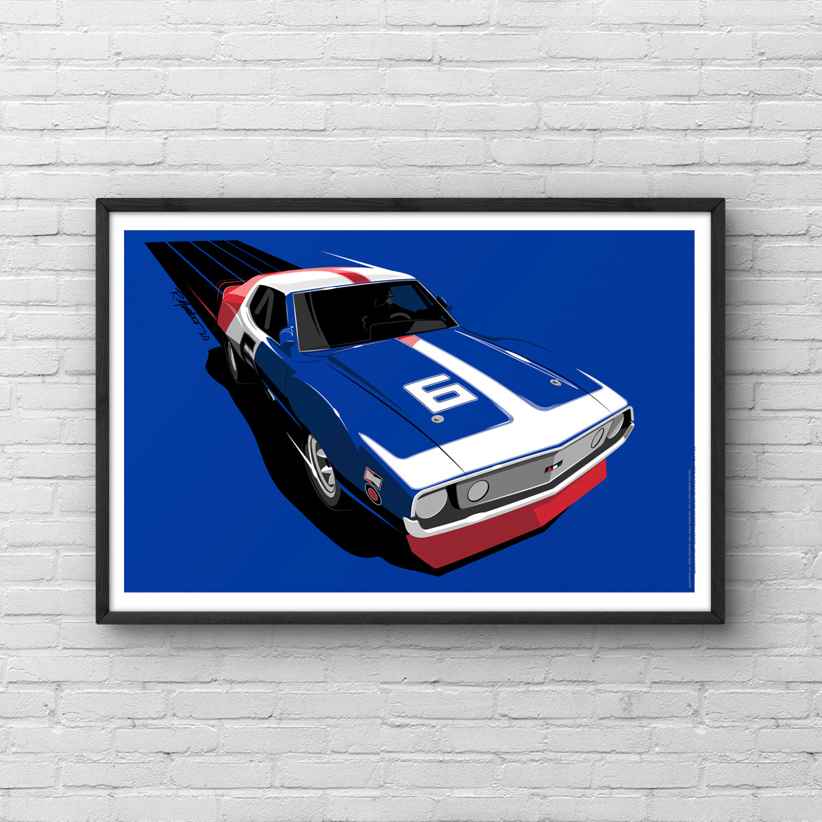 Mark Donohue Trans Am 1971 Javelin Art Print