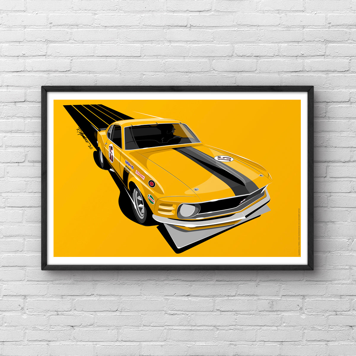 1970 Mustang Boss 302 Trans Am Parnelli Jones Art Print