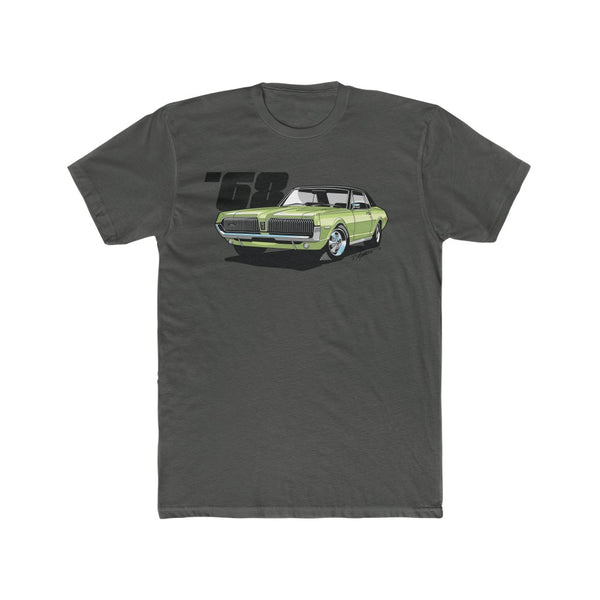 1968 Mercury Cougar Lime Frost Men's Cotton Crew Tee