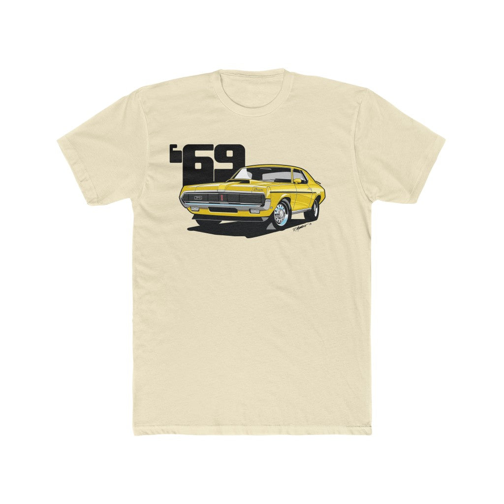 1969 Mercury Cougar Eliminator Yellow Men's Cotton Crew Tee