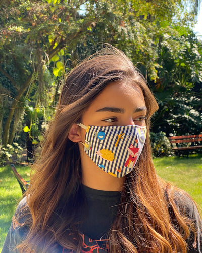 Mascarillas de Tela Estampadas Reversibles - Adultos