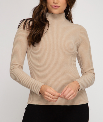 Soft Ribbed Turtle Neck