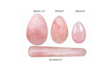 Rose Quartz Crystal Yoni Egg & Yoni Wand Set