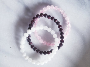 Feminine Health Crystal Bracelet Set