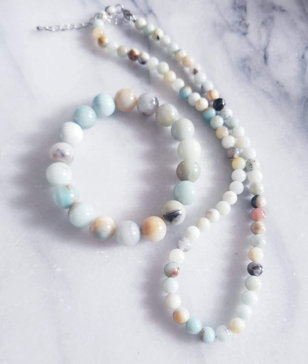 Amazonite Bracelet & Necklace Set