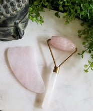 Deluxe Rose Quartz Face Roller & Gua Sha 2 Piece Set