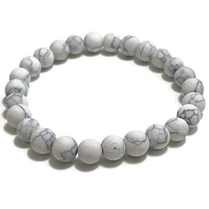 8mm Howlite Stretch Bracelet