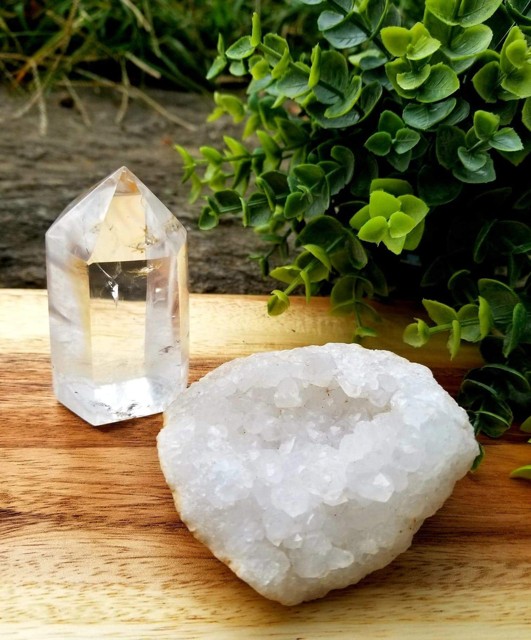 Quartz Crystal 2 Piece Set