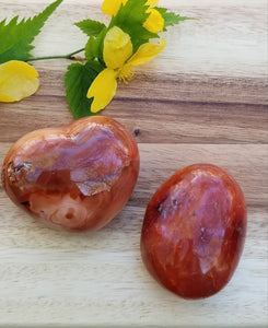Carnelian Red Agate Crystal Set