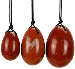 Red Jasper Yoni Egg Set