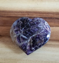 Large Chevron Amethyst Puffy Heart