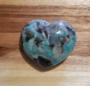 Amazonite Crystal Puffy Heart