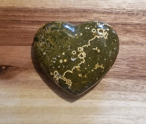 Sea Jasper Puffy Heart