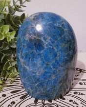 Beautiful Large Blue Apatite Crystal Freeform from Madagascar 4.8""