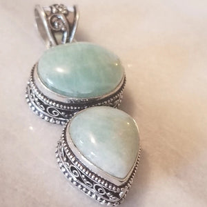 Amazonite Necklace with Sterling Silver Chain