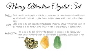 Money & Wealth Attraction Crystal Set Lg