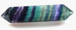 Rainbow Fluorite Crystal Double Terminated Wand Grade A