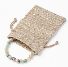 Amazonite Stretch  Buddha Bracelet