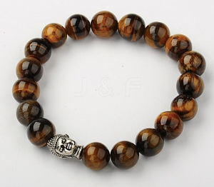 Tiger's Eye Stretch Buddha Bracelet