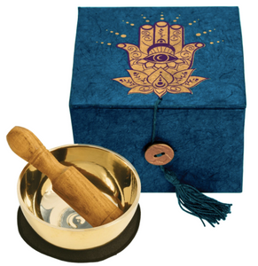 "Hamsa Meditation Bowl 3"" With Gift Box"